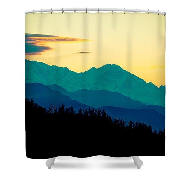 Sunrise In Himalayas Annapurna Yatra Himalayas Mountain Nepal Poon Hill Shower Curtain