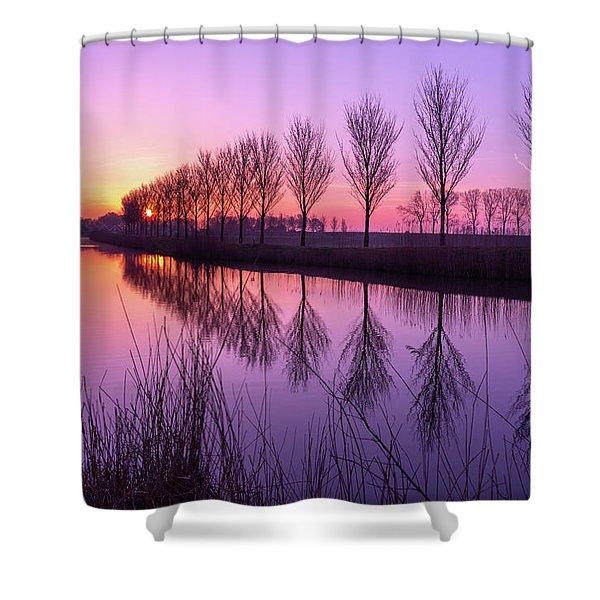 Sunrise In Holland Shower Curtain