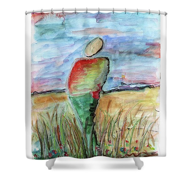 Sunrise In The Grasses Shower Curtain