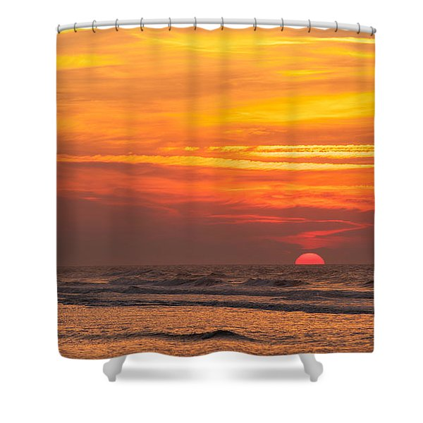 Sunrise In The Water Shower Curtain