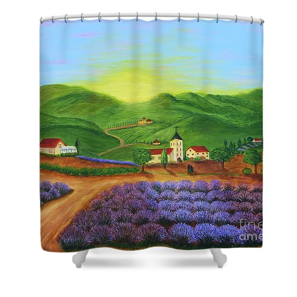 Sunrise In Tuscany Shower Curtain