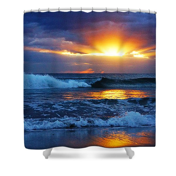 Sunrise Light Wave  Shower Curtain