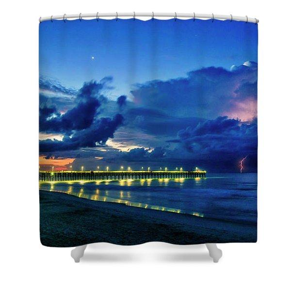 Sunrise Lightning Shower Curtain