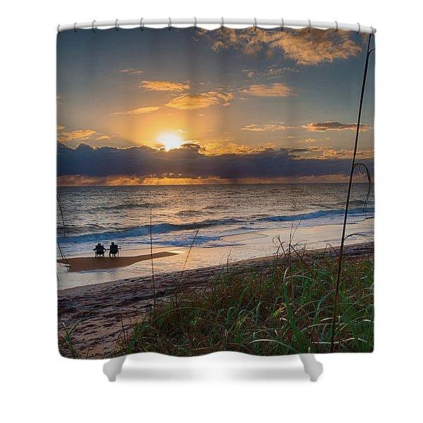 Sunrise Love Shower Curtain