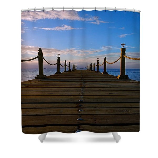 Sunrise Morning Bliss Pier 140a Shower Curtain