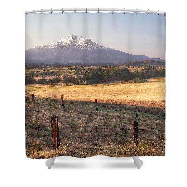 Sunrise Mount Shasta Shower Curtain