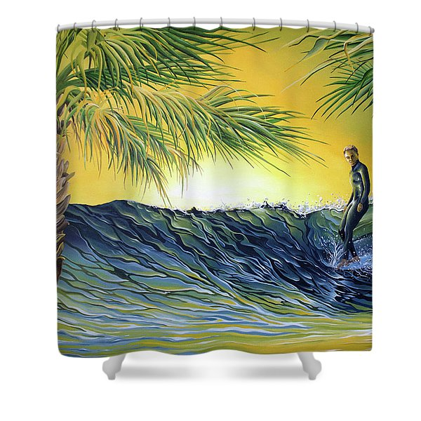 Sunrise Nose Ride Shower Curtain