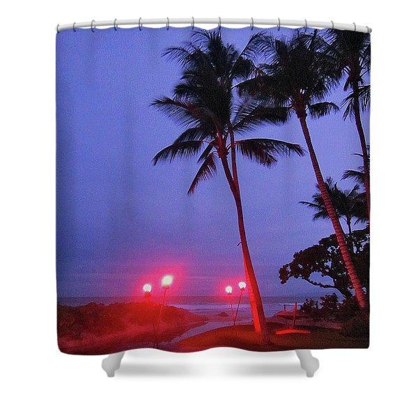 Sunrise Ocean Pathway Shower Curtain