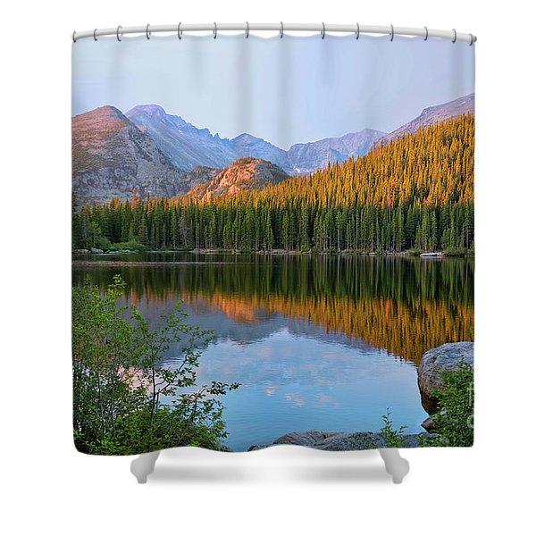 Sunrise On Bear Lake Rocky Mtns Shower Curtain