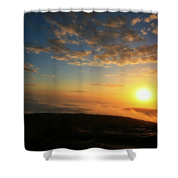 Sunrise On Cadillac Mountain Shower Curtain