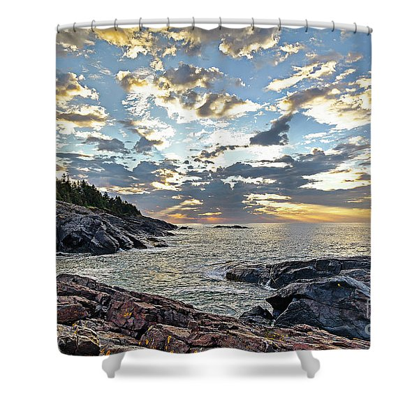 Sunrise On Christmas Cove Shower Curtain