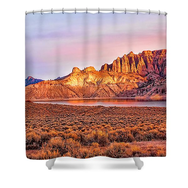 Sunrise On Dillon Pinnacles Shower Curtain