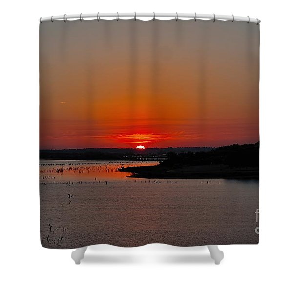 Sunrise On Lake Ray Hubbard Shower Curtain