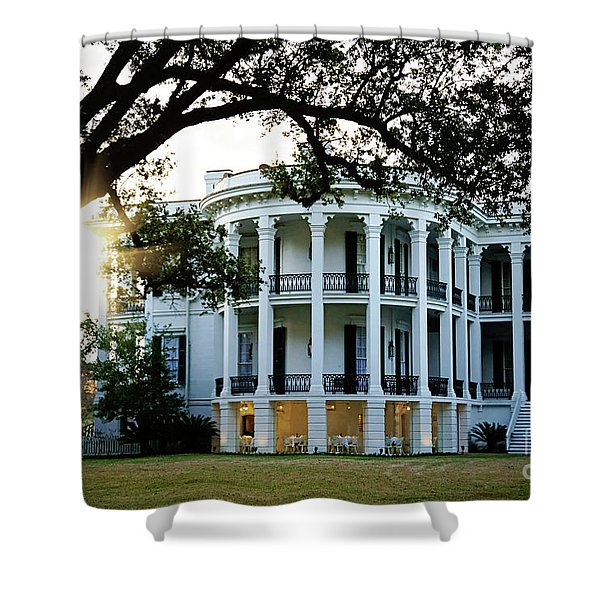 Sunrise On Nottoway Plantation Shower Curtain