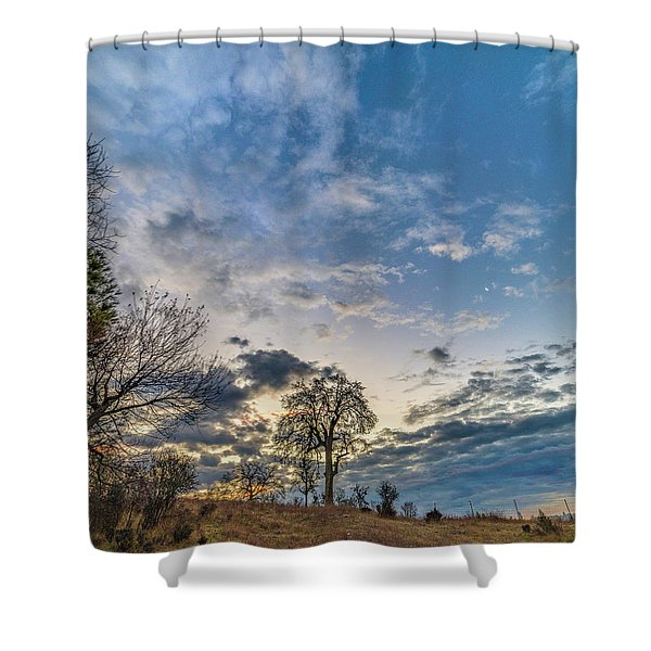 Sunrise On The Back Hill Shower Curtain