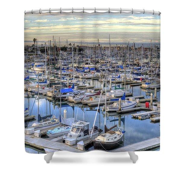 Sunrise On The Harbor Shower Curtain