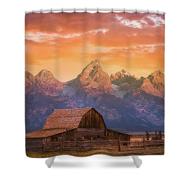 Sunrise On The Ranch Shower Curtain