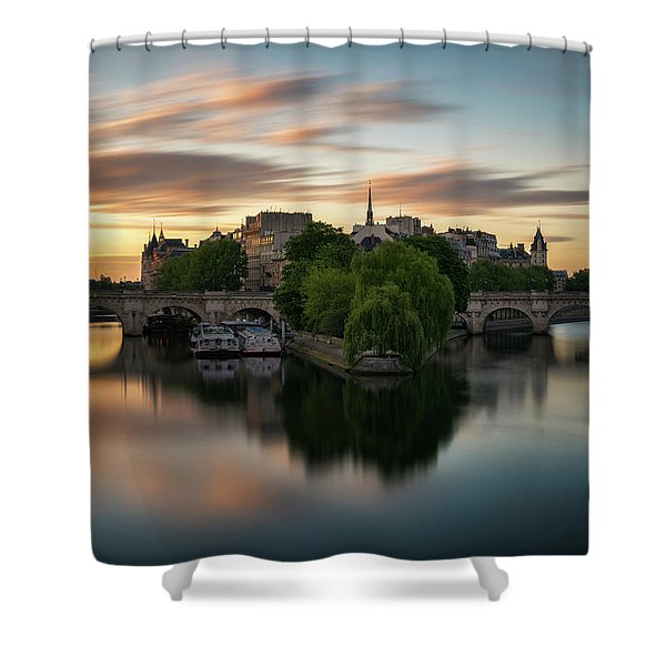 Sunrise On The Seine Shower Curtain