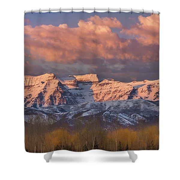 Sunrise On Timpanogos Shower Curtain