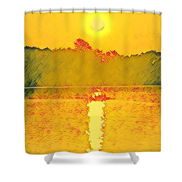 Sunrise On Town Lake Shower Curtain