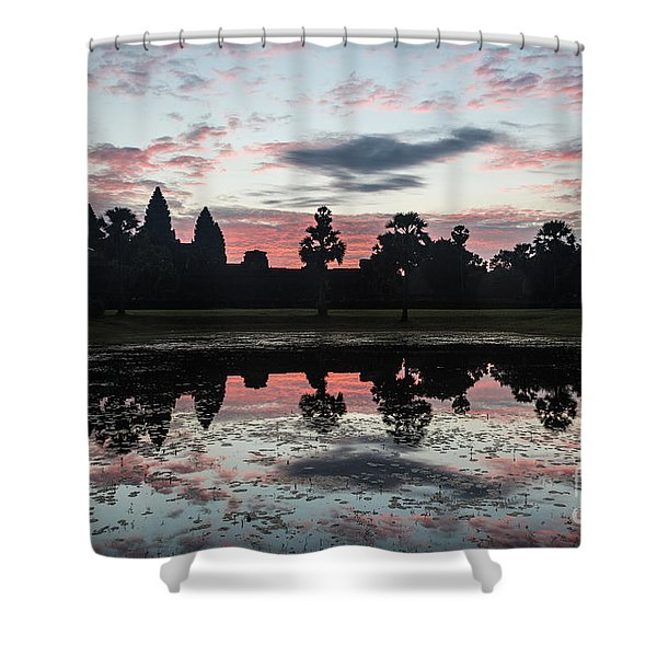 Sunrise Over Angkor Wat Shower Curtain