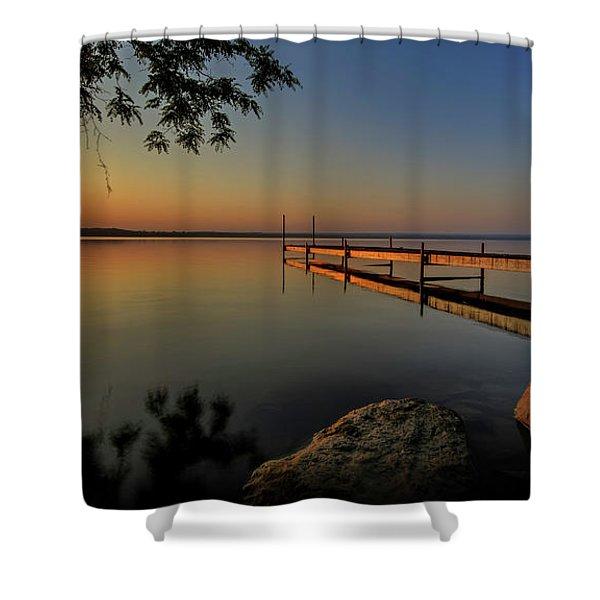 Sunrise Over Cayuga Lake Shower Curtain