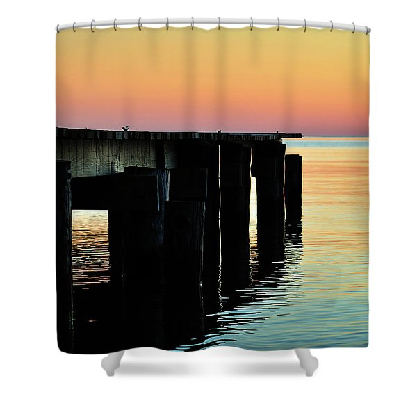 Sunrise Over Chesapeake Bay Shower Curtain