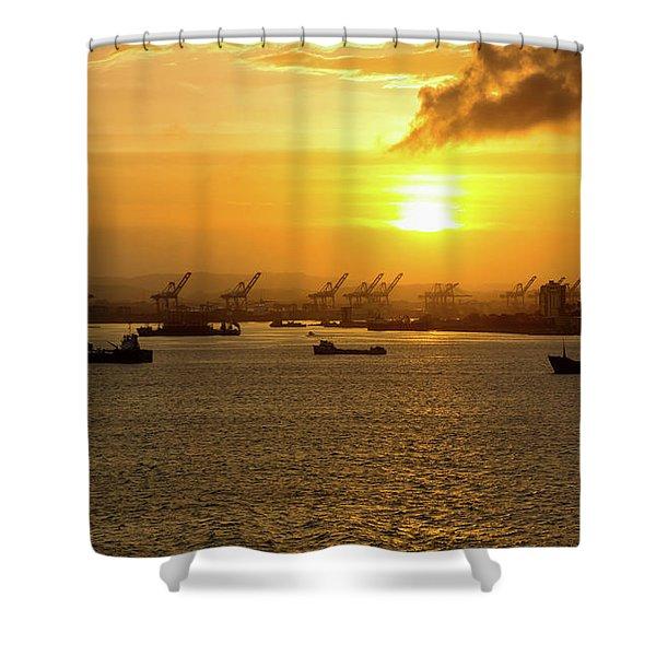 Sunrise Over Colon Shower Curtain