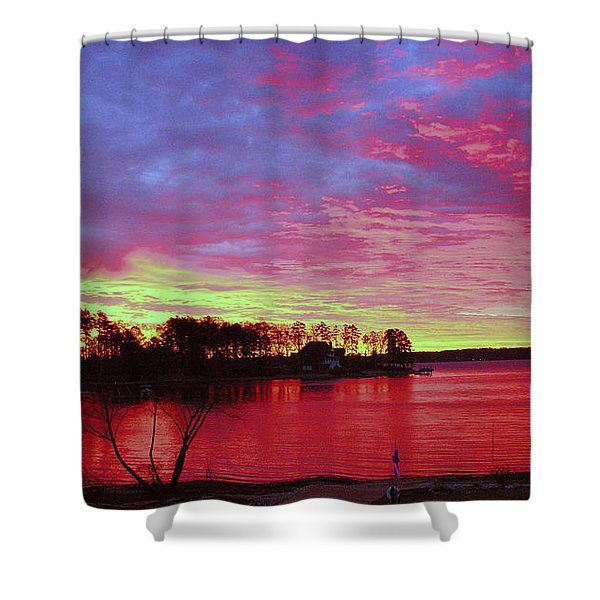 Sunrise Over Lake Murray Shower Curtain