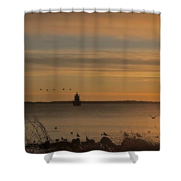 Sunrise Over New Bedford Shower Curtain