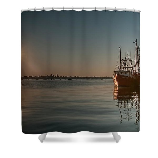 Sunrise Over New Bedford, Shower Curtain