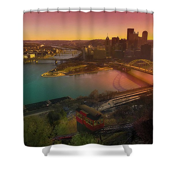 Sunrise Over Pittsburgh  Shower Curtain