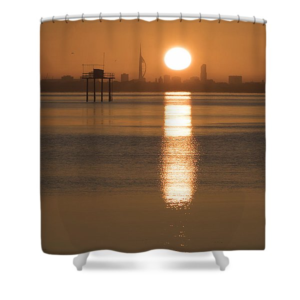 Sunrise Over Portsmouth Shower Curtain