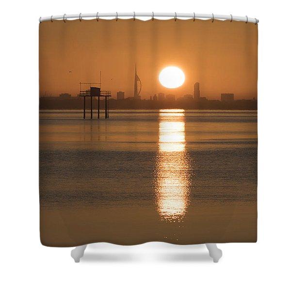 Sunrise Over Portsmouth Shower Curtain