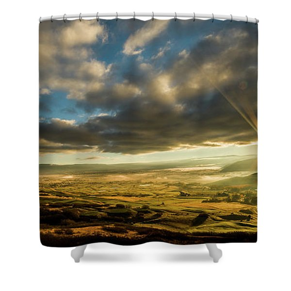 Sunrise Over The Heber Valley Shower Curtain