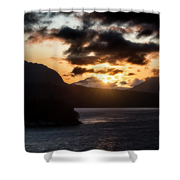 Sunrise Over The Inland Passage Shower Curtain