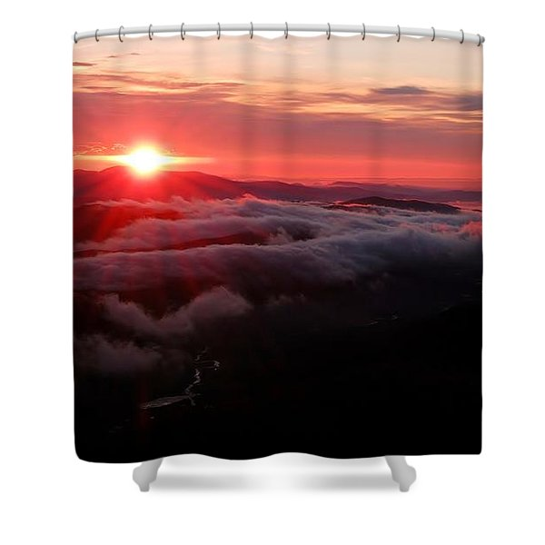 Sunrise Over Wyvis Shower Curtain