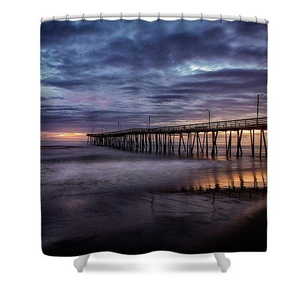 Sunrise Pier Shower Curtain