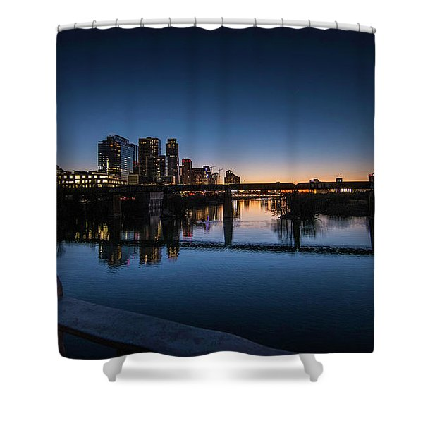 Sunrise Reflections Shower Curtain