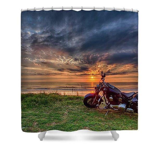 Sunrise Ride Shower Curtain