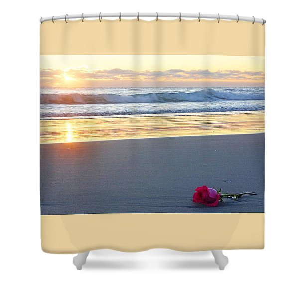 Sunrise Rose Shower Curtain