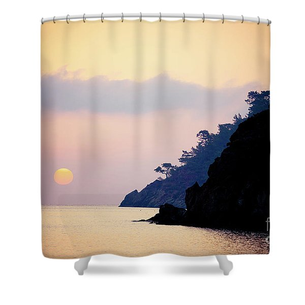 Shower Curtain featuring the photograph Sunrise Sea Rythm  by Raimond Klavins