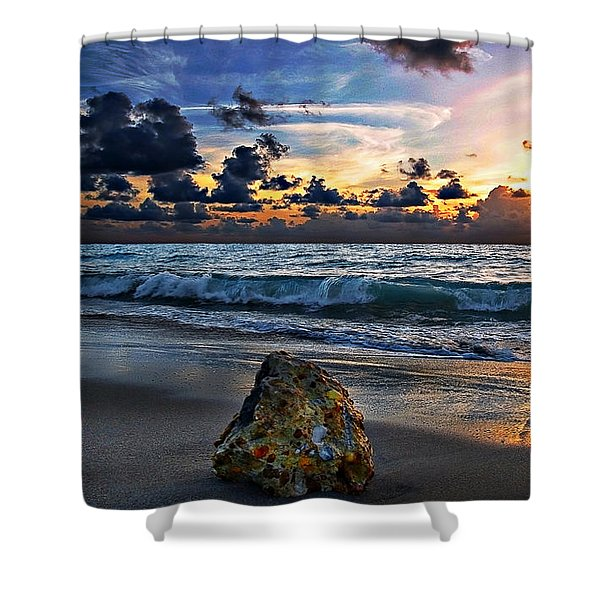 Sunrise Seascape Wisdom Beach Florida C3 Shower Curtain