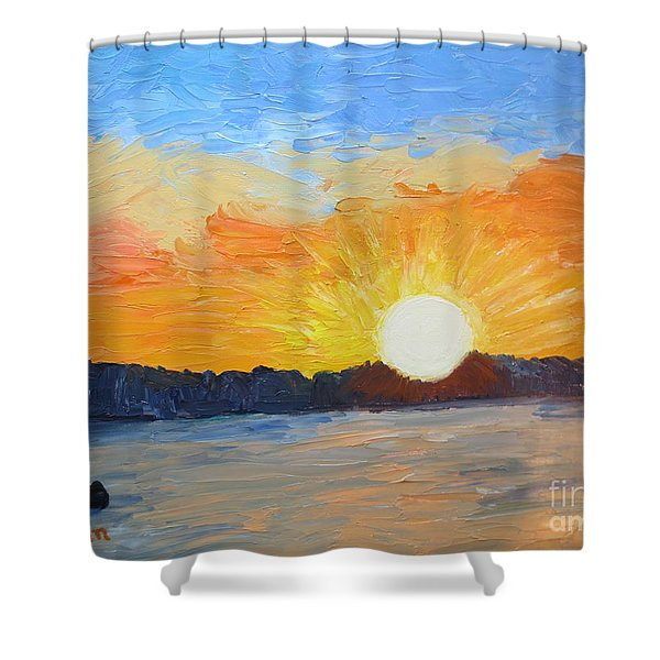 Sunrise At Pine Point Shower Curtain