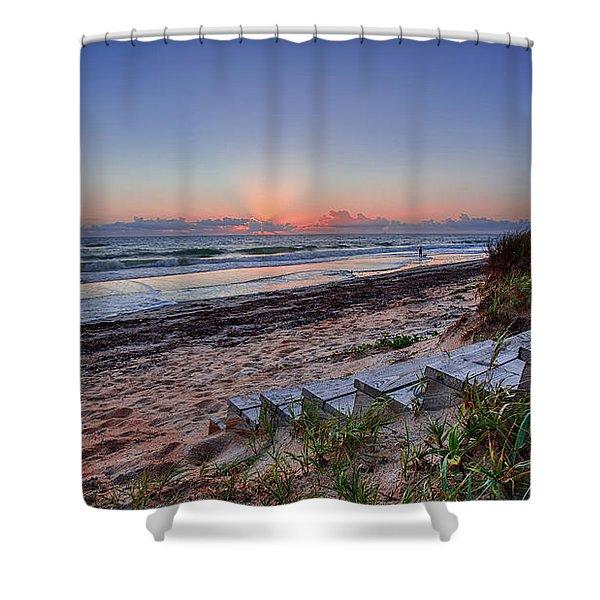 Sunrise Stairs Shower Curtain