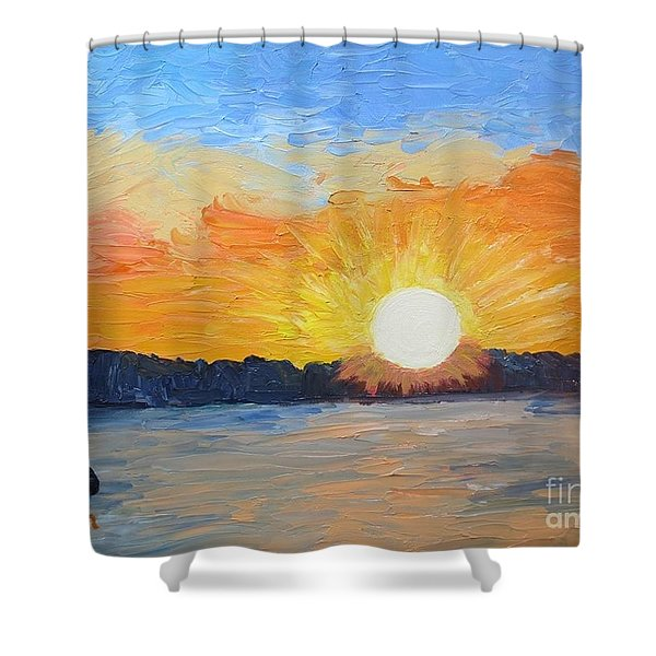 Sunrise Sensation Shower Curtain