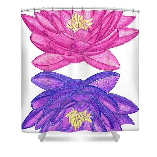 Sunrise Sunset Lotus Shower Curtain