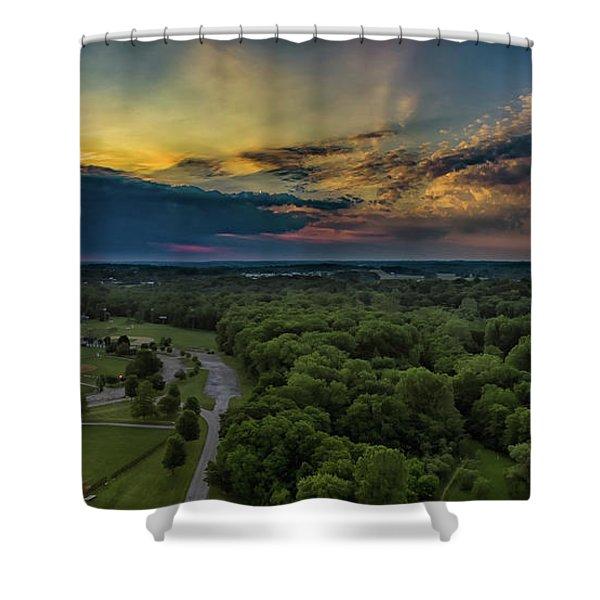 Sunrise Thru The Clouds Shower Curtain