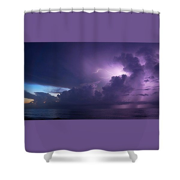 Sunrise Thunderstorm Shower Curtain