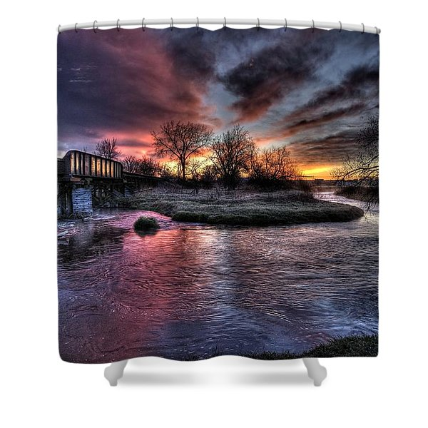 Sunrise Trestle #1 Shower Curtain